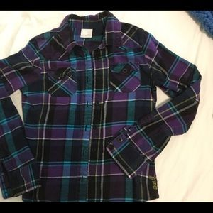 O'Neill  ladies plaid flannel shirt
